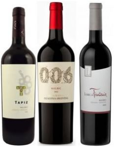 Argentine Malbec Red Wine Trio