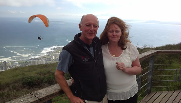 Jane with Jeremy at Lions Head